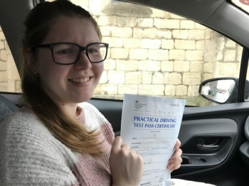 Ellen had never been behind the wheel on a road before, she took a 36 hour intensive course....and passed 1st time!!